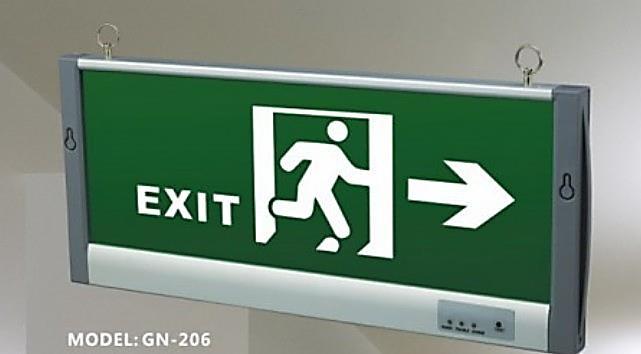 EXIT Sign (LED Light) Model: GN-206 – GoBuy.Pk Pakistan